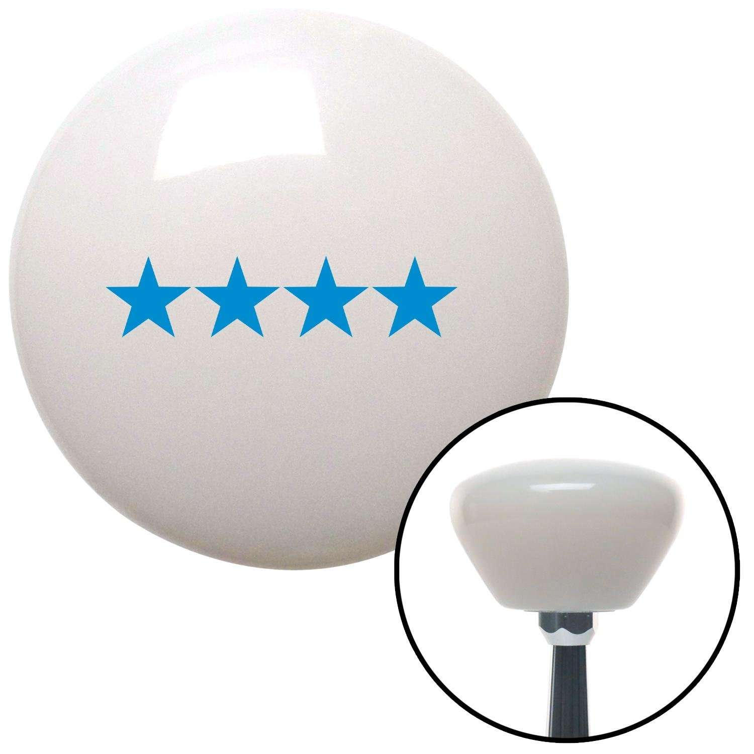 Blue Officer 10 - General American Shifter 154424 White Retro Shift Knob with M16 x 1.5 Insert