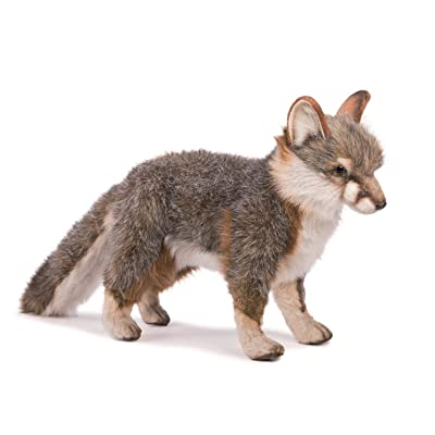 HANSA Fox Plush, Gray: Toys & Games