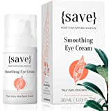 Natural Sensitive Eye Cream with Anti-Wrinkle Support, All Natural and Vegan for Sensitive Dry Skin, Dark Circles, Bags and P