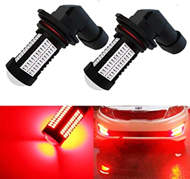 YaaGoo 9005 Red LED DRL Driving Fog Light,Replacement of Halogen,360 degree super bright