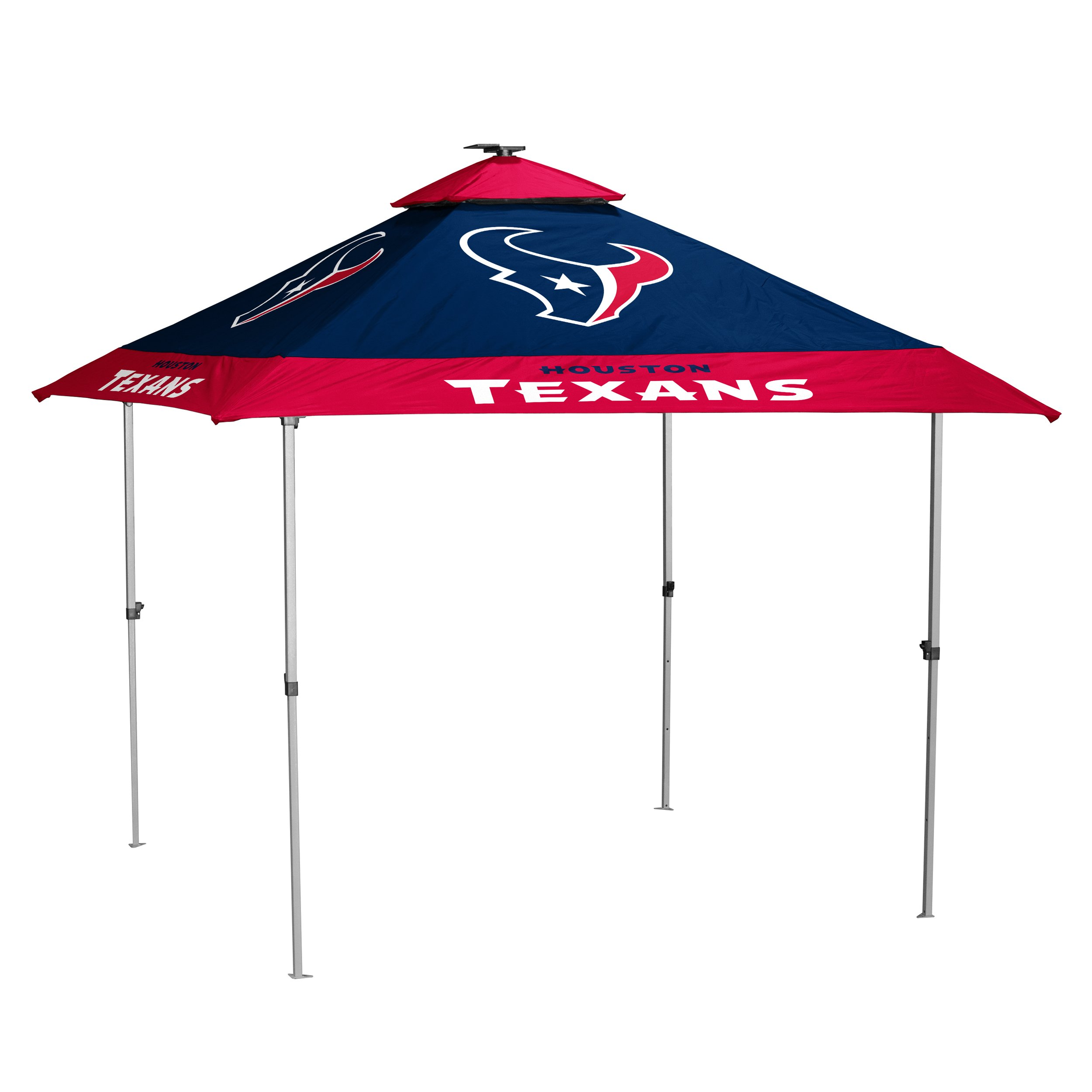 Logo Brands NFL Houston Texans Pagoda Tent Pagoda Tent, Navy, One Size