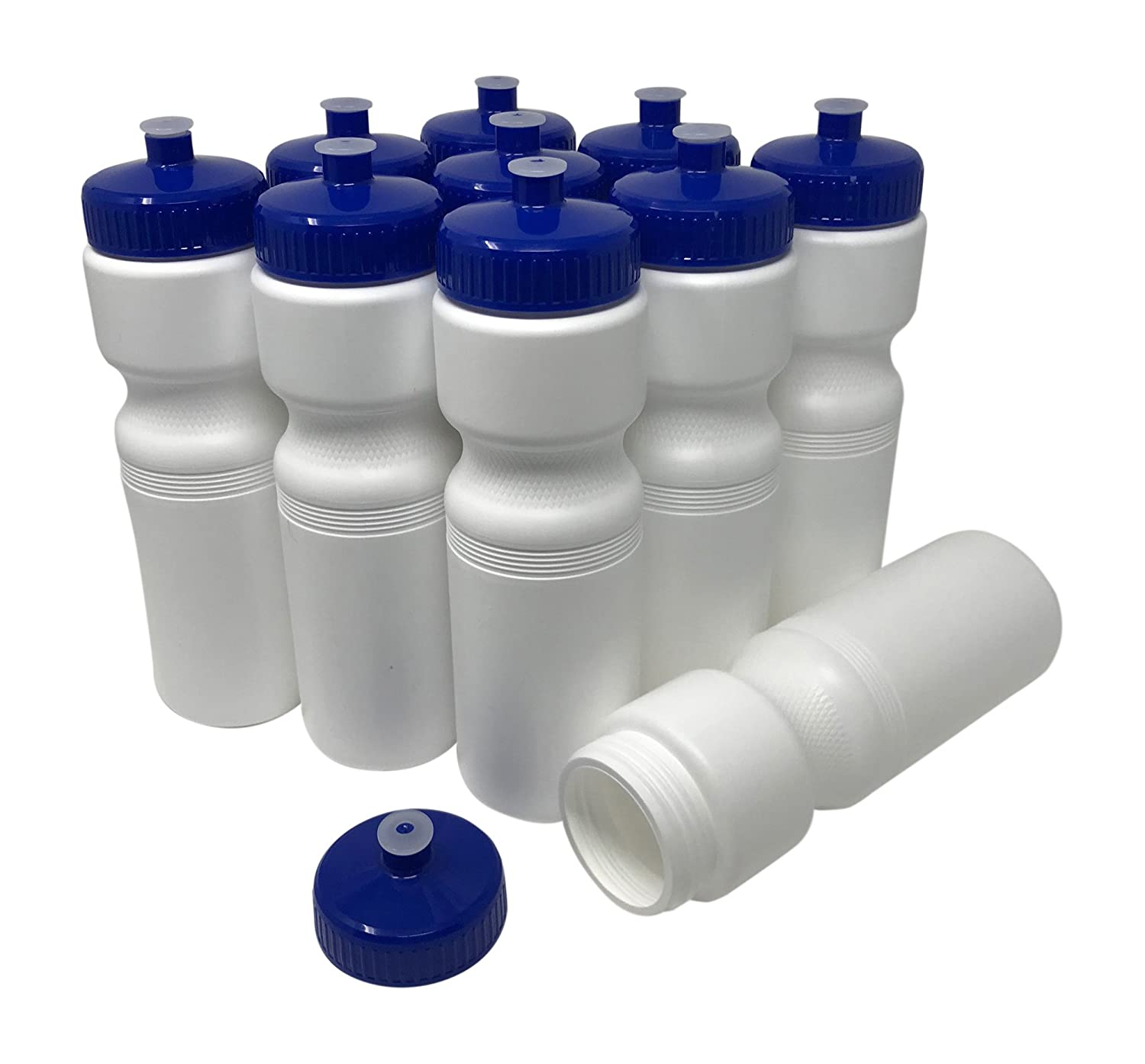 10 Pack Fundraises or Fitness Pull Top Leakproof Drink Spout CSBD 28oz Sports Water Bottles Reusable No BPA Plastic Blank DIY Customization for Business Branding