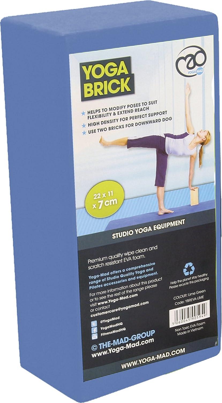 Amazon.com : Fitness Mad Hi-Density Yoga Brick 220mm x 110mm ...