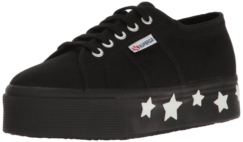 Superga Women's 2790 Coturbstrarw Fashion Sneaker B01LRG6FBS 39.5 M EU / 8.5 B(M) US Black/White
