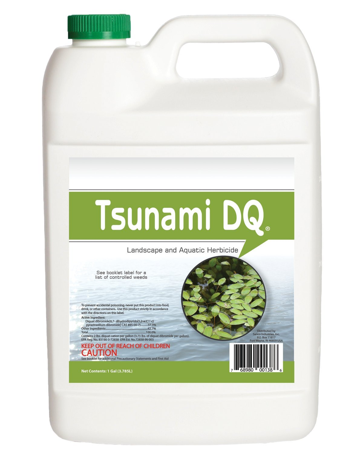 Tsunami DQ Aquatic Herbicide - 37.3 Percent Diquat Dibromide - 1 Gallon by Crystal Blue