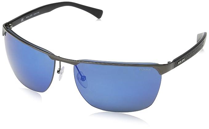 Police S8962-gafas de sol Hombre Azul Azul (CANNA DI FUCILE ...