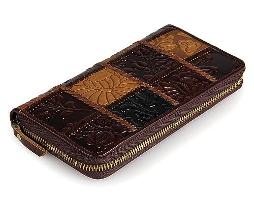 HUANGLINGLING Billetera Cartera de mujer Cartera personalizada de cuero Cartera larga de mujer billetera tela: Amazon.es: Zapatos y complementos