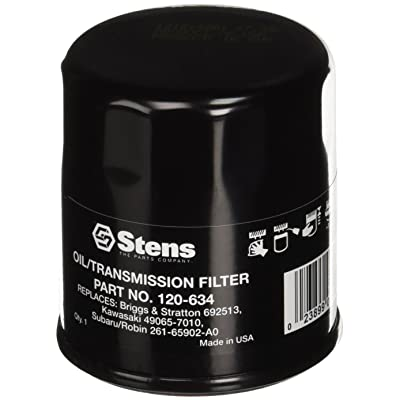Stens 120-634 Oil Filter Replaces John Deere AM107423 Kawasaki 49065-2078 Club Car 1016467 Robin 261-65902-A0 Onan 122-0737-03 Cub Cadet 490-201-0001 Onan 122-0737: Garden & Outdoor