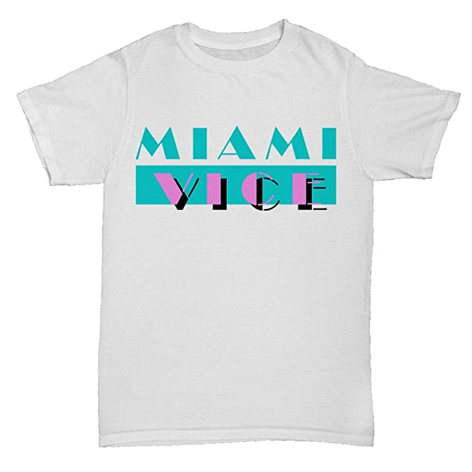 Miami Vice 80s Logo T-shirt, Mens S to XXL