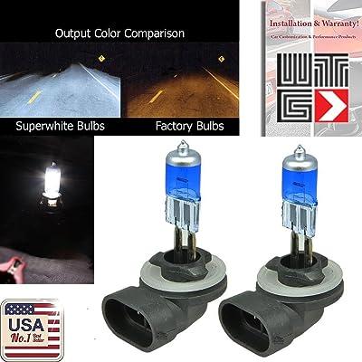 VITO 894 37.5w (Fog Light) 881 862 886 889 896 898 Super White 5000K Xenon Halogen OEM Headlight Light Bulbs (Contains 2 Bulbs): Automotive