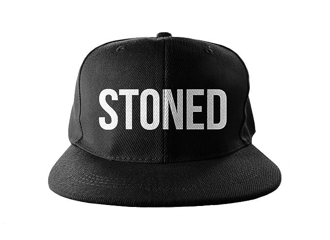 Amazon.com  Stoned Weed 420 Smoker Cool Swag Hip Hop Print Snapback ... 19974e544293