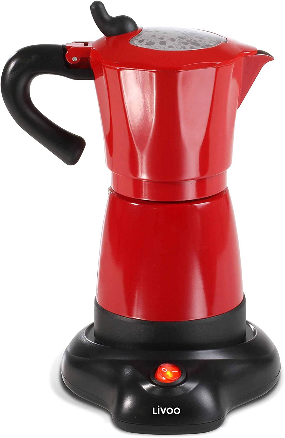 Domoclip Cafetera Electric Rojo: Amazon.es: Hogar