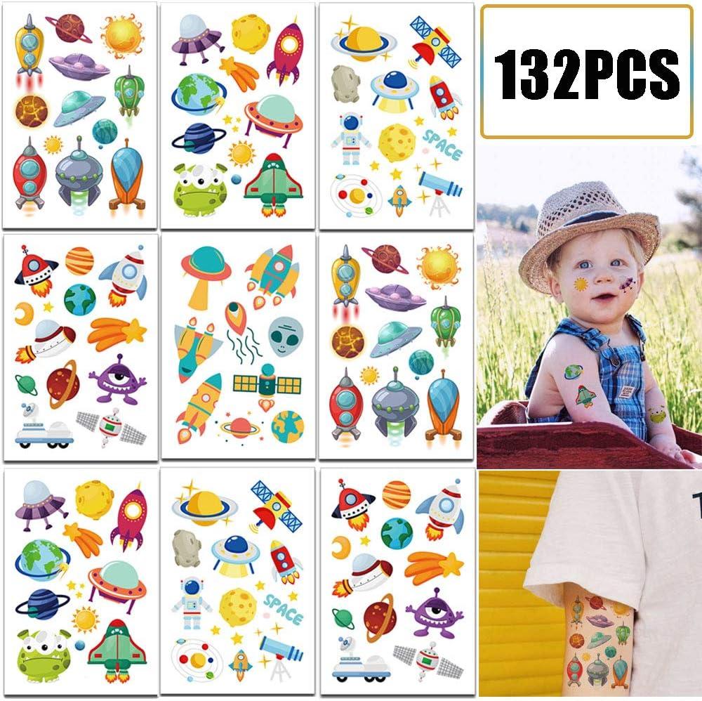 Amazon.com: 132 piezas de tatuajes temporales para niños ...