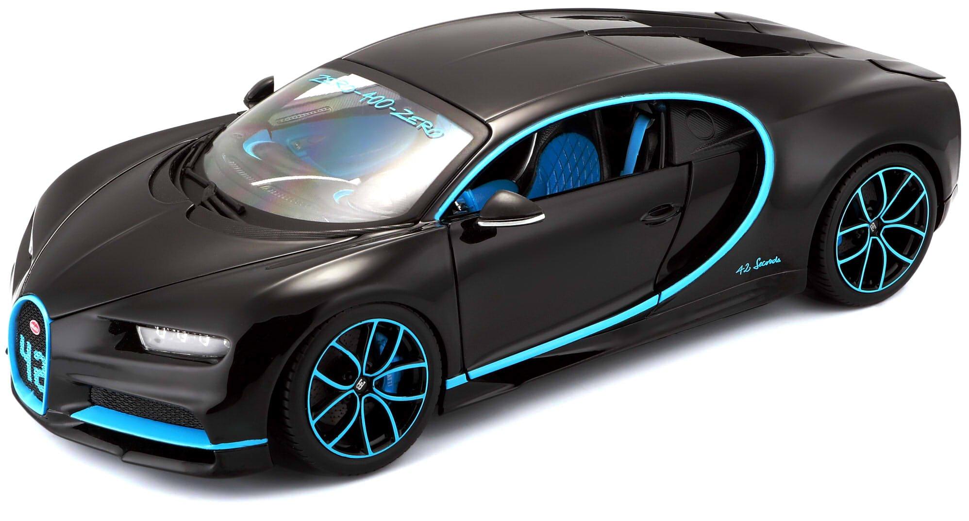 Tobar 15611040BK 1:18 Bugatti CHIRON 42 Second Special Edition, Black