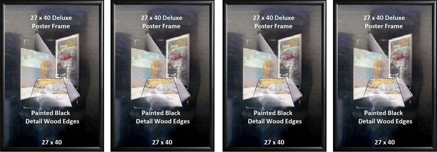 Poster Art House Wood 27-Inch-by-40-Inch Poster Frame, Black Finish
