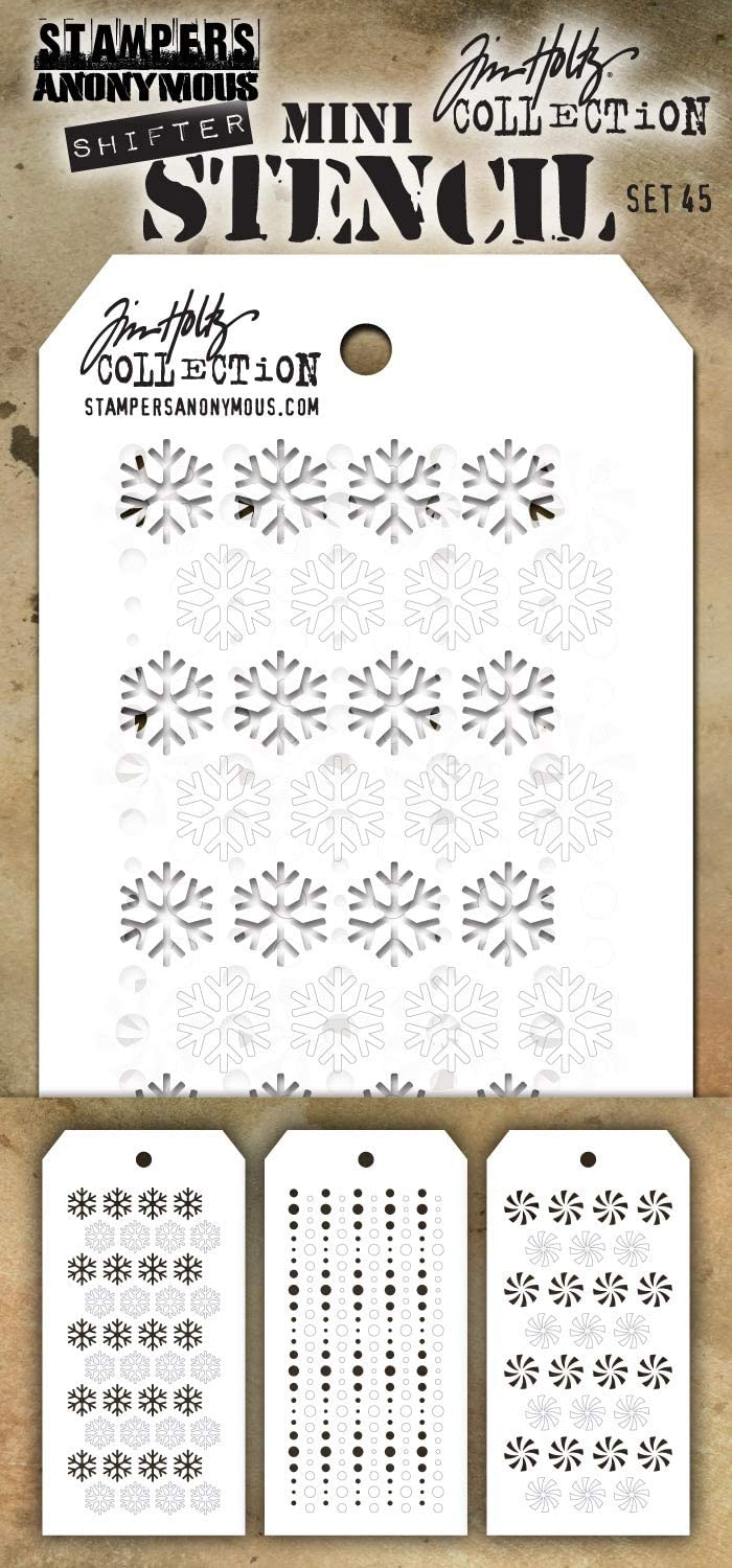 Set #45 Stampers Anon MST045 Mini Stencil Tim Holtz