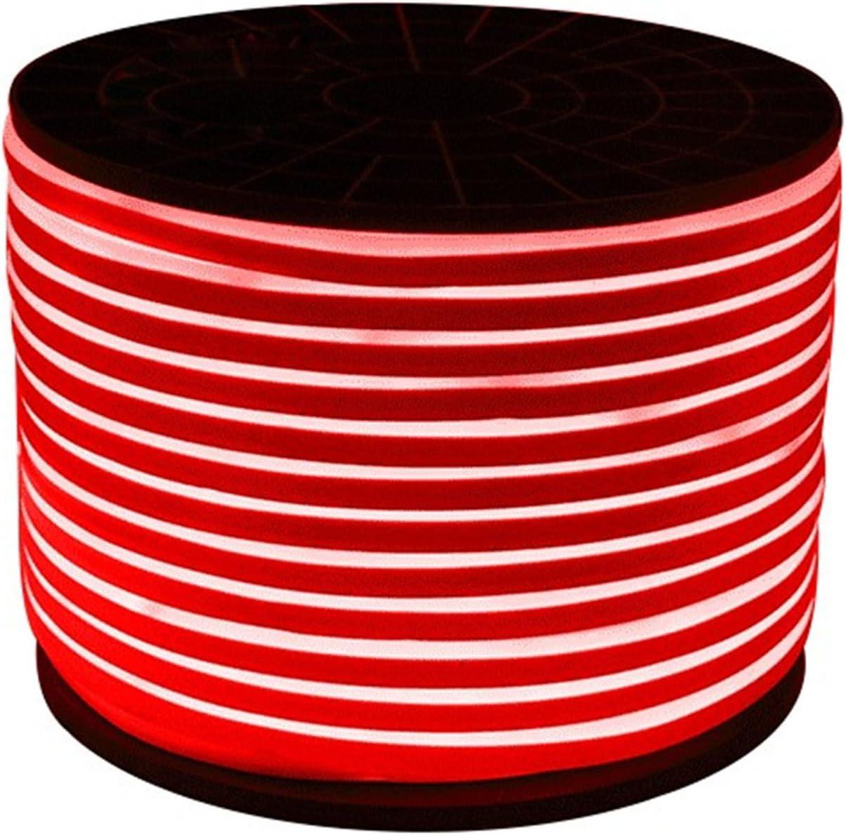 Ruanyi Luz de la Cuerda de neón de los 5M 600LED LED 2 alambres LED Neon Flex Dip Blanca llevó la Cinta de neón 220-240V / 110-130V (Color : Red)