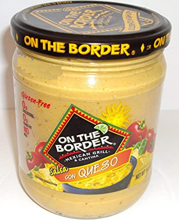 On the Border Salsa con Queso - Cheese Dip - 15.5 Oz Jar (Pack of
