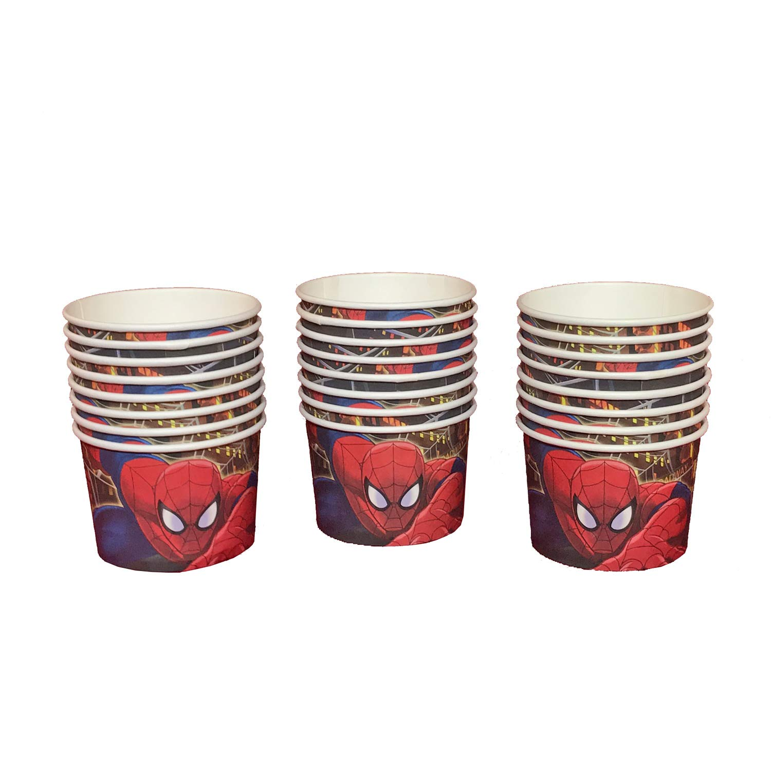 Marvel Ultimate Spider-Man Snack Holders - 24 Count - Paper Treat Cups for Ice Cream, Snacks, Dessert & More