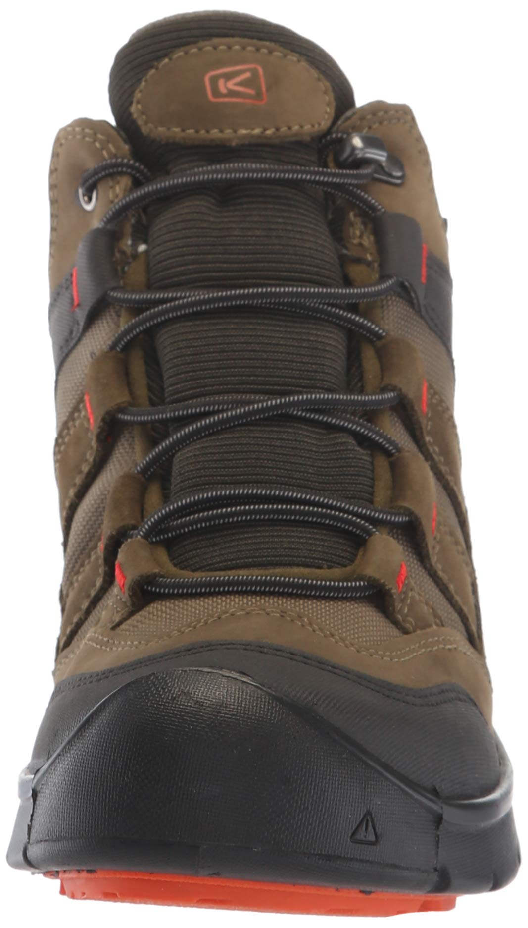 KEEN Unisex HIKEPORT MID WP Hiking Boot, Martini Olive/pureed Pumpkin, 12 M US Little Kid by KEEN (Image #4)