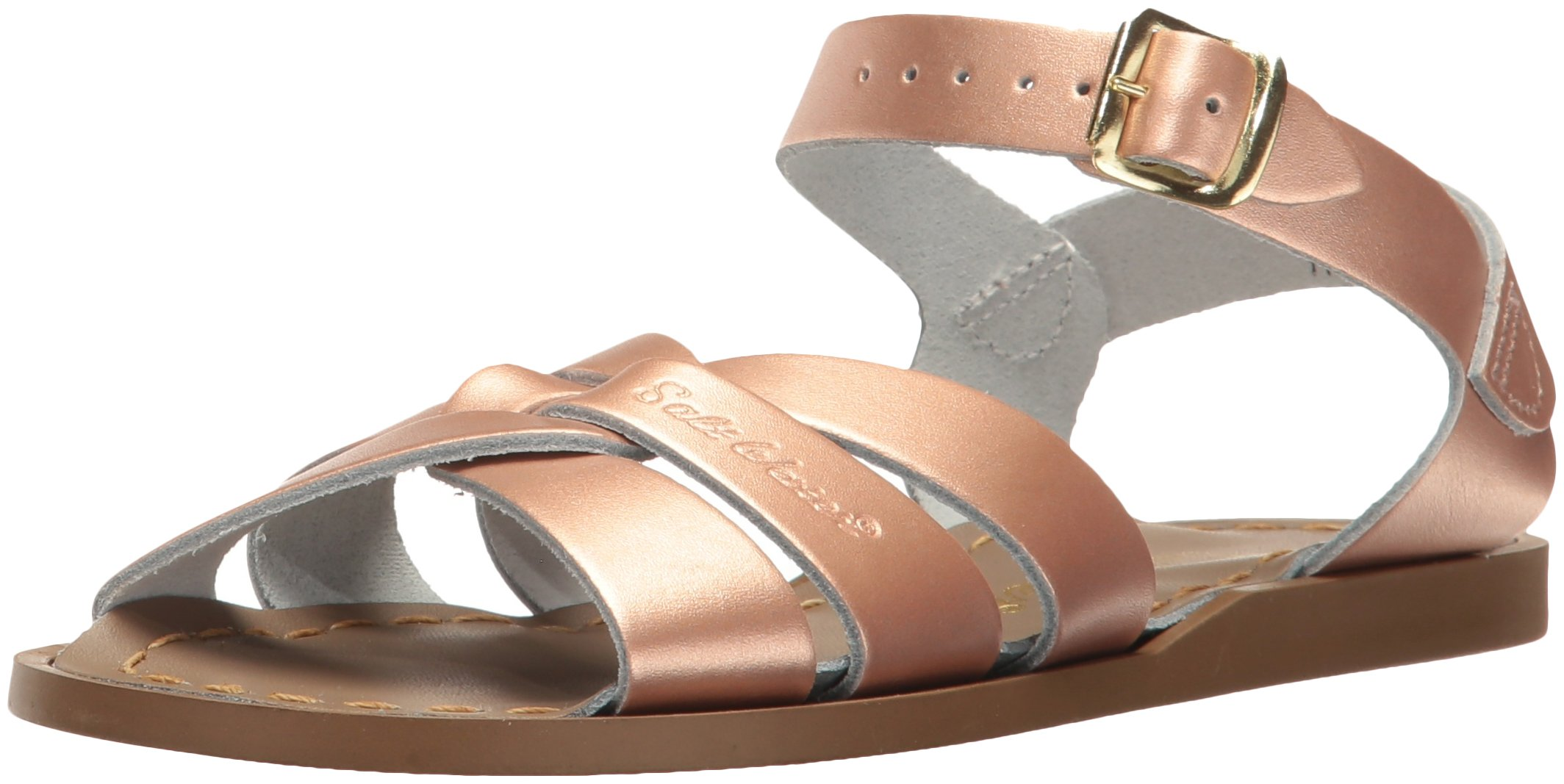 Salt Water Sandals by Hoy Shoe Girls' Salt Water Original Flat Sandal, Rose Gold, 9 W11 M US Big Kid