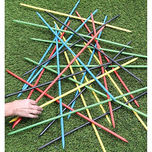 Kikkerland Jumbo Pick Up Sticks Game (Giant Stick)
