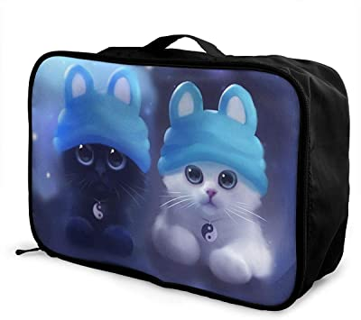 Animals-cat Travel Carry-on Luggage Weekender Bag Overnight Tote Flight Duffel In Trolley Handle