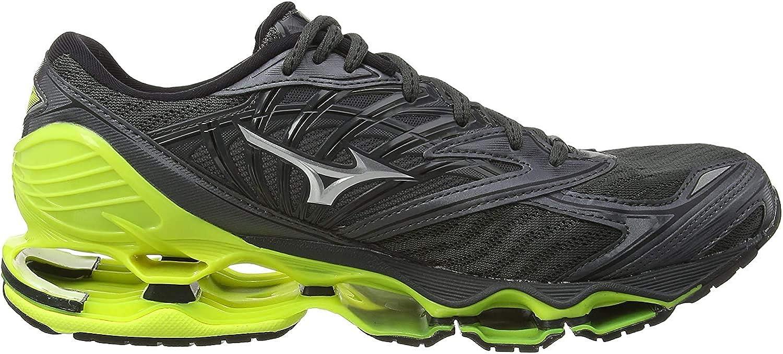Mizuno Wave Prophecy 8, Zapatillas de Running para Hombre, Negro Dark Shadow/Silver/Safety Yellow 05, 42.5 EU: Amazon.es: Zapatos y complementos