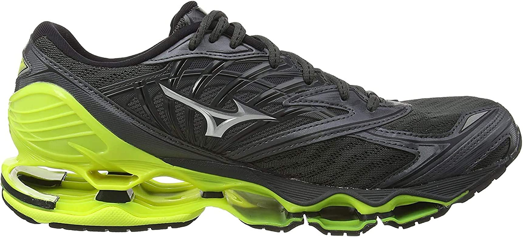 Mizuno Wave Prophecy 8, Zapatillas de Running para Hombre, Gris (DarkShadow/Silver/SafetyYellow 05), 48.5 EU: Amazon.es: Zapatos y complementos