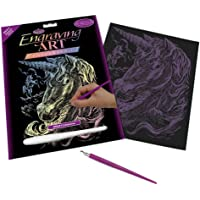 Royal & Langnickel Glow In The Dark Engraving Art A4 Size Unicorns Designed Painting Set