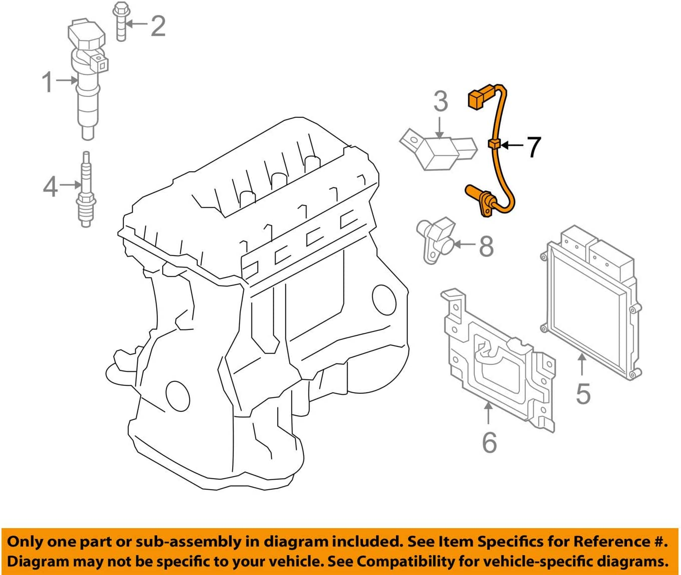 Genuine Hyundai 39180-2C500 Crankshaft Position Sensor