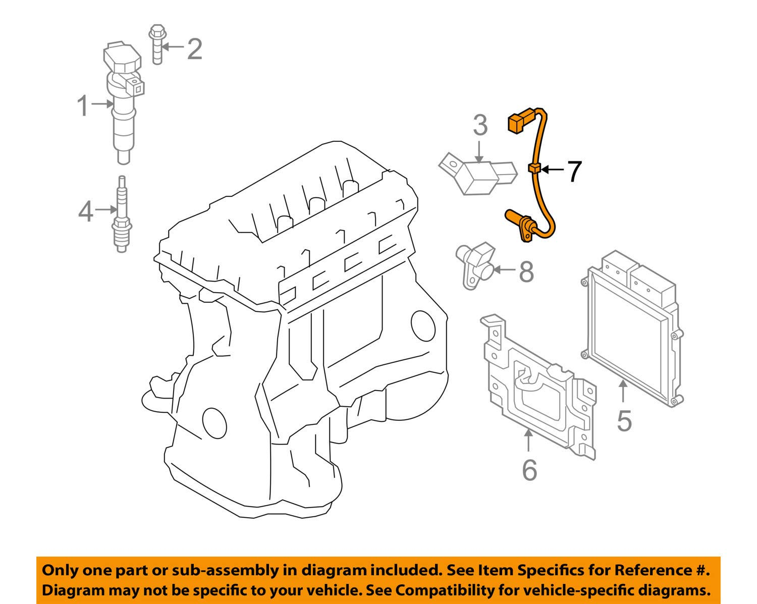 Genuine Hyundai 39180-2C500 Crankshaft Position Sensor