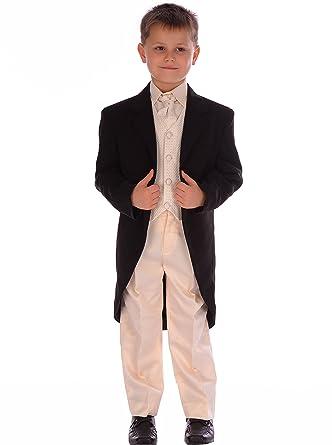 Los Muchachos Los Trajes de niños 5pc todos Crema y negro traje de ...