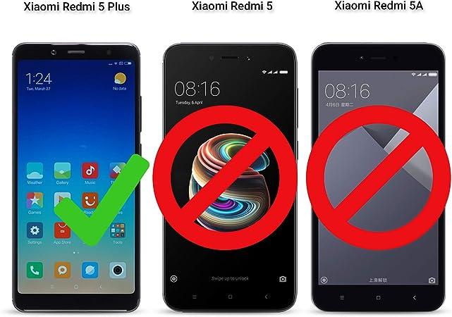 Moozy Funda Silicona Antigolpes para Xiaomi Redmi 5 Plus: Amazon ...