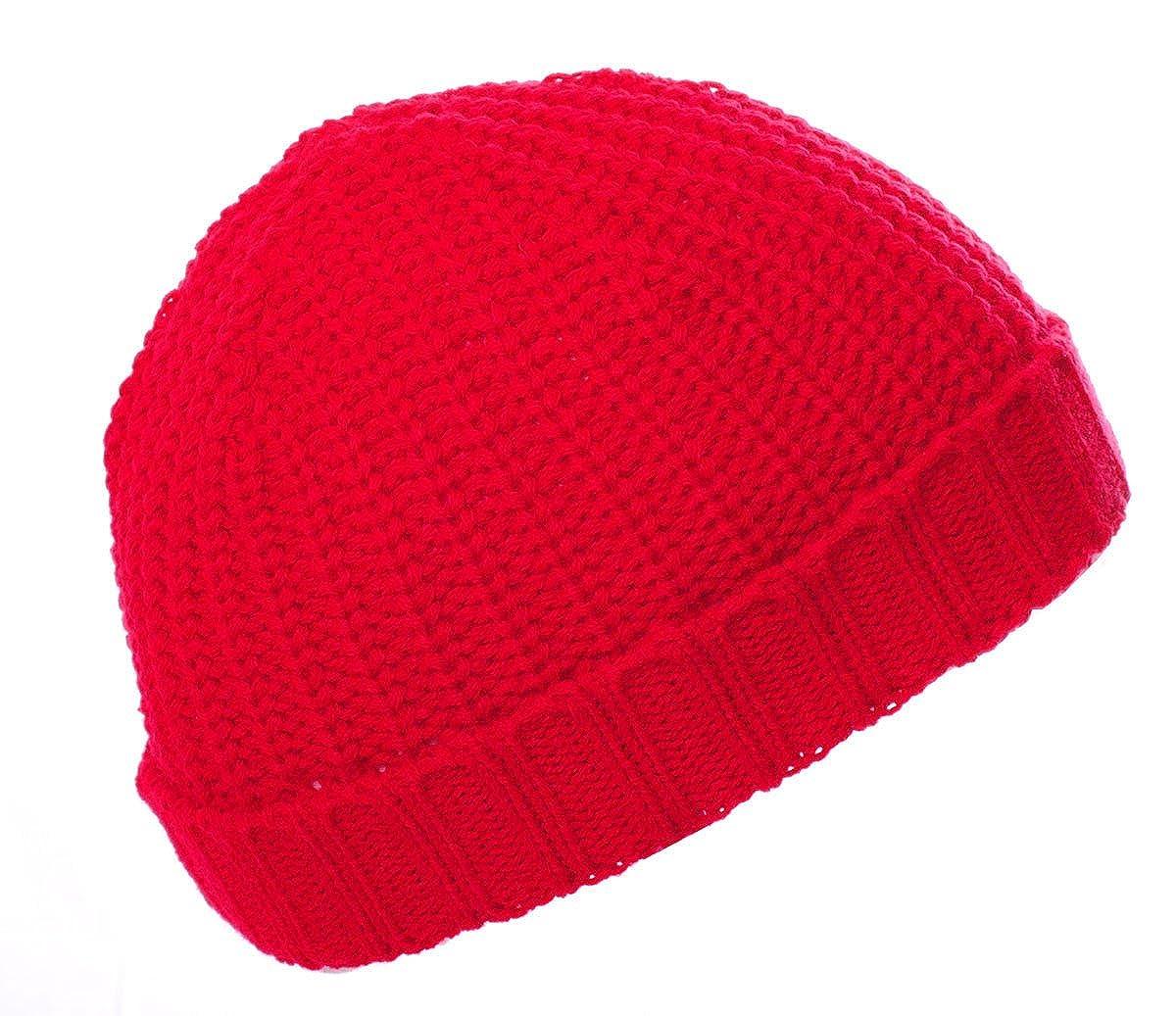 100% Acrylic Kids Children's Knitted Beanie Hat, Snug Ski Hats Made in England Snug Ski Hats Made in England (Blue)