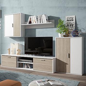 Fabri Kit Wohnzimmer Wohnwand Mobile Tv Weiss Holz Mobel Wohnzimmer