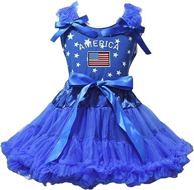 Petitebelle Dress - Juego de Falda para Camisa con diseño de Bandera de Estados Unidos y Cinta Azul Real: Amazon.es: Ropa y accesorios