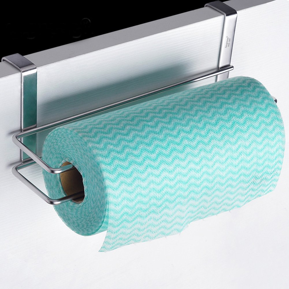 Amazon.com: SHENGXIA Stainless Steel Kitchen Paper Holder Under ...