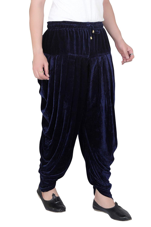 Patiala-Pants-Salwar-fuer-Maenner-Samt-elastischer-Bund-handgefertigt-laessig-Wear Indexbild 13