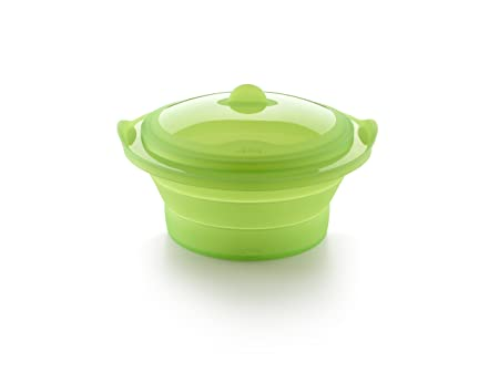 Lékué Vaporera Verde, 2.5 litros, Silicona