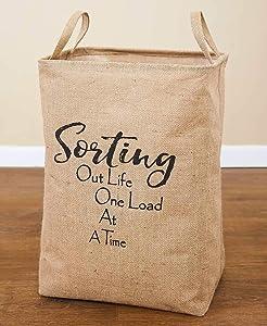 LTD. Whimsical Burlap Laundry Tote, Sorting