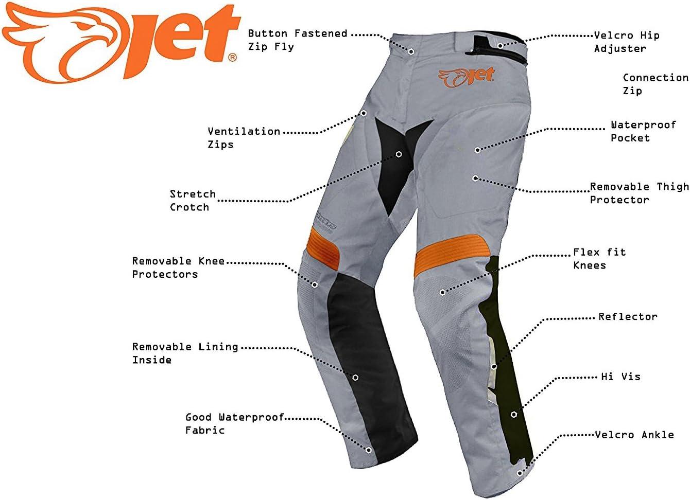 in tessuto rinforzato impermeabile per motociclisti Pantaloni da uomo