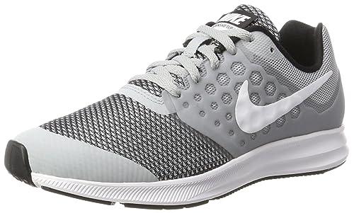 Nike Downshifter 7 (GS), Zapatillas de Deporte para Mujer, Blanco (White), 35.5 EU
