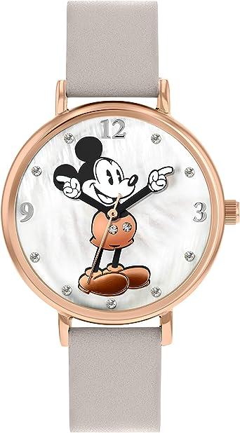 Disney Mickey Mouse Reloj de pulsera para mujer con caja de oro rosa - DM809C: Amazon.es: Relojes