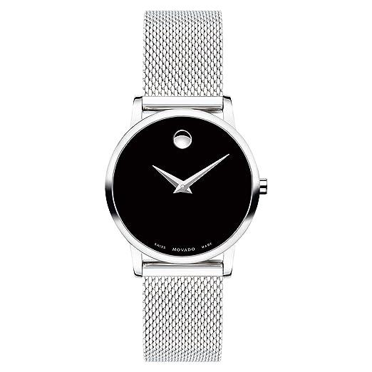 Movado Museum 0607220 - Reloj clásico para Mujer, Esfera Negra: Amazon.es: Relojes