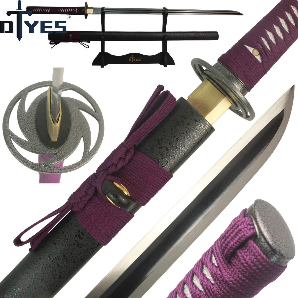 Amazon.com : DTYES Handmade Japanese Samurai Ninja Sword ...