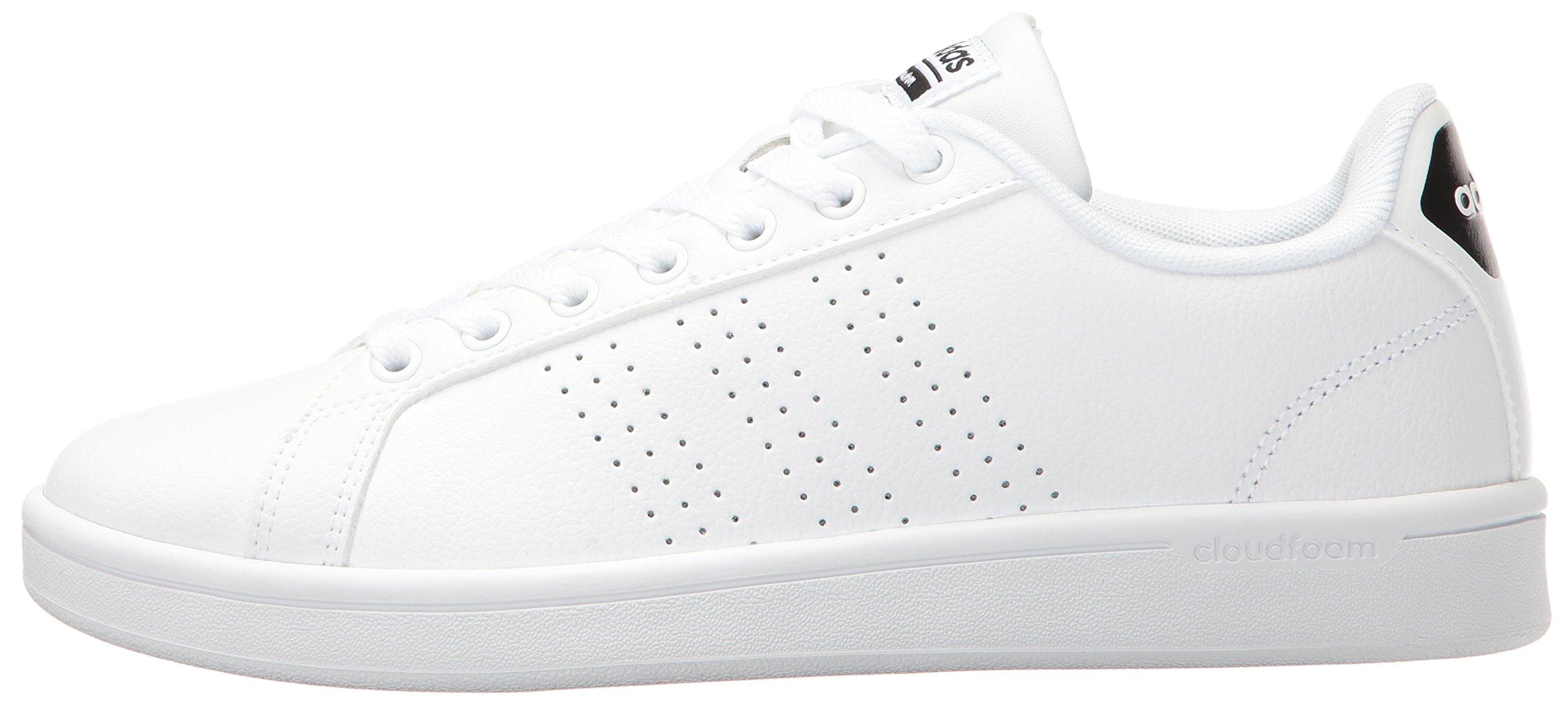 adidas Women's Shoes Cloudfoam Advantage Clean Sneakers, White/White/Black, (7.5 M US) by adidas (Image #5)