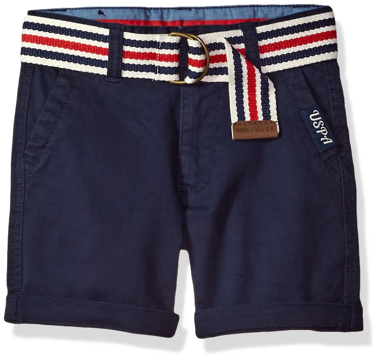 U.S. Polo Assn. Toddler Boys' Short, Large Roll up Cuff Classic Navy, 3T