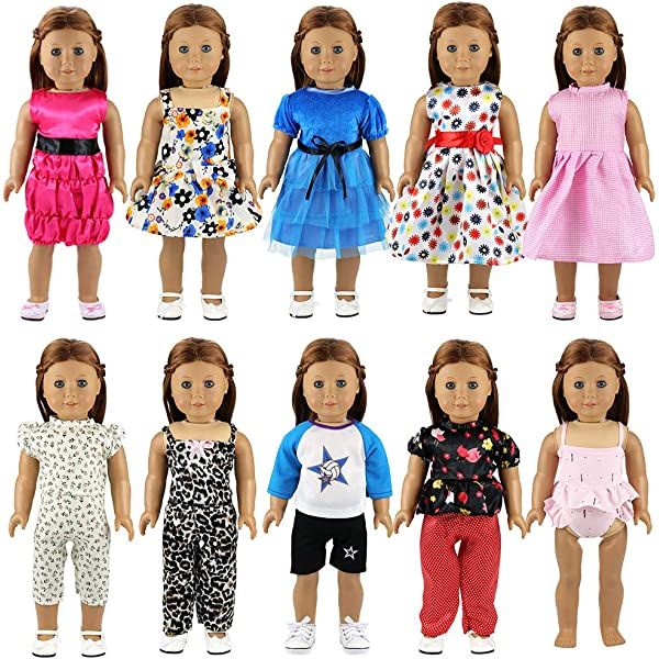 6 PCS Doll Clothes+1 Shoes 1 Cap+1 Bag for 18/'/' American Girl Doll X19