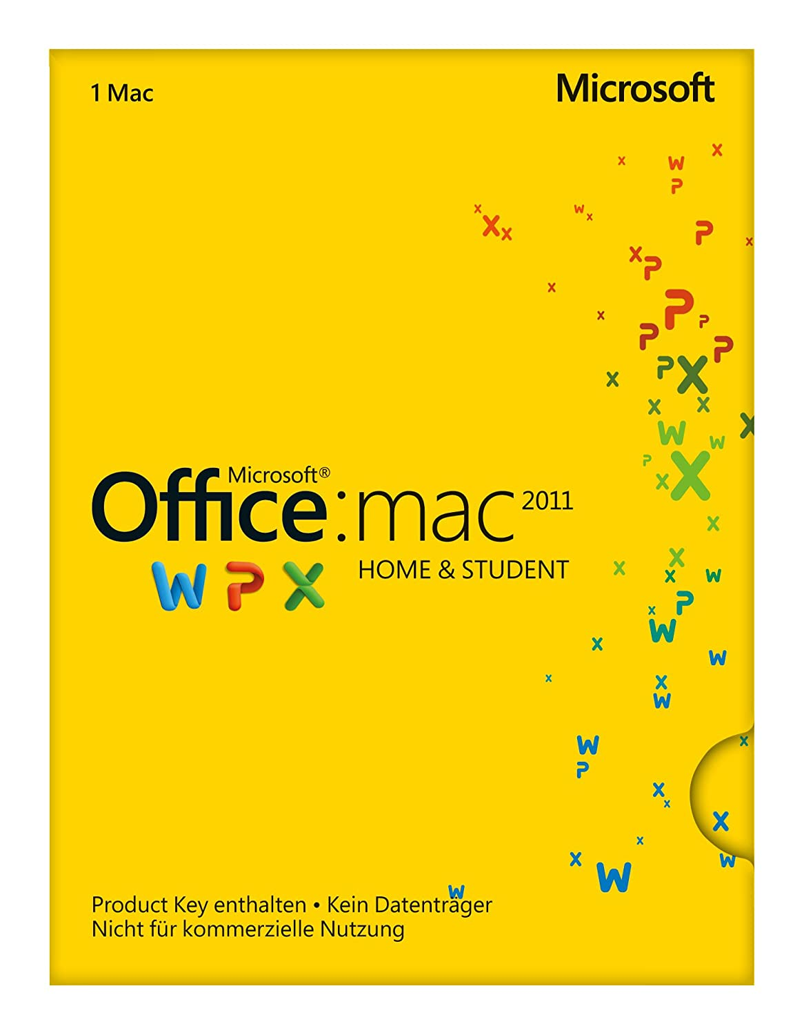 Microsoft Office Mac Home and Student 2011 - 1MAC (Product Key Card ...